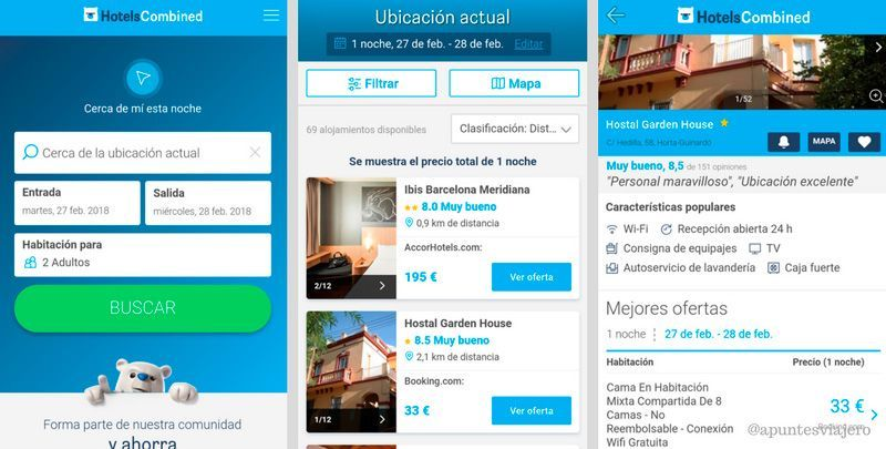 HotelsCombined - Apps para buscar hoteles baratos
